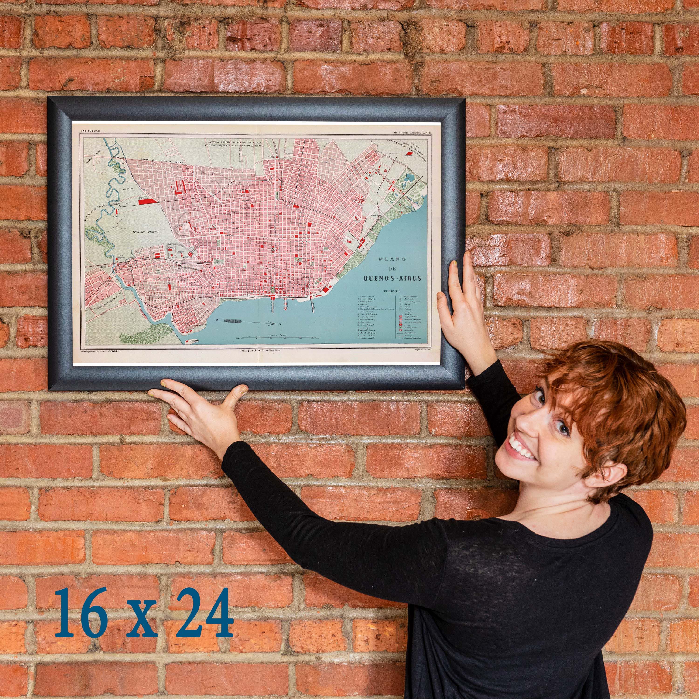 Plano De Buenos Aires Antique Map