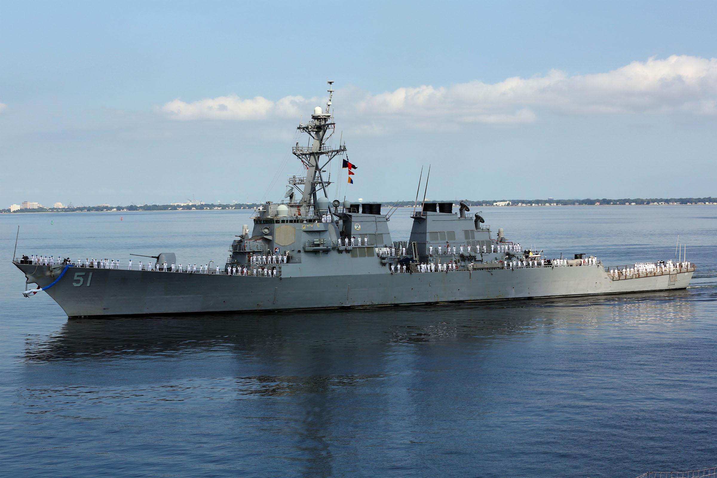 USS Arleigh Burke DDG 51 Custom Personalized Print of US Navy Ships Gift